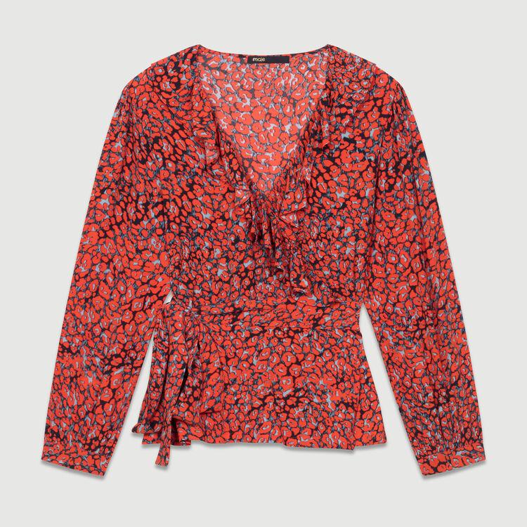 Bluse mit Leoparden-Print : Tops farbe IMPRIME