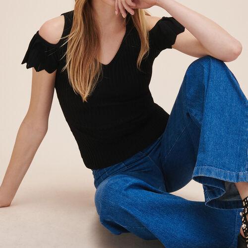 Pullover aus Stretch-Strick : Alles einsehen farbe Schwarz