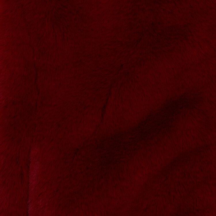 Kurze Kunstfelljacke : Weinrot farbe Himbeerrot