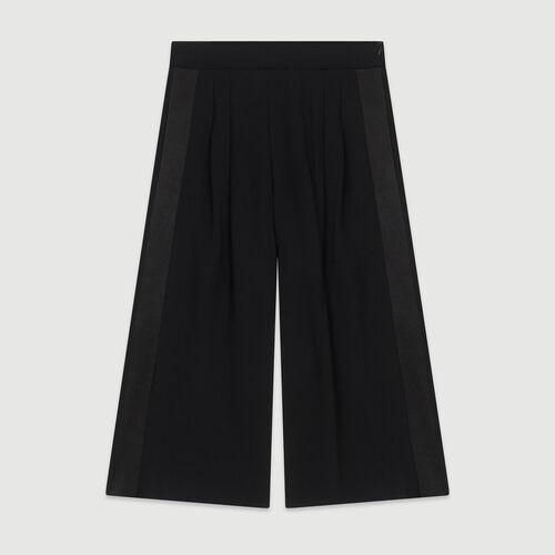 Weite Hose aus Krepp : Hosen & Jeans farbe Schwarz