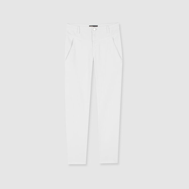 Gerade Jeans mit Cut-Outs : Hosen & Jeans farbe Weiss