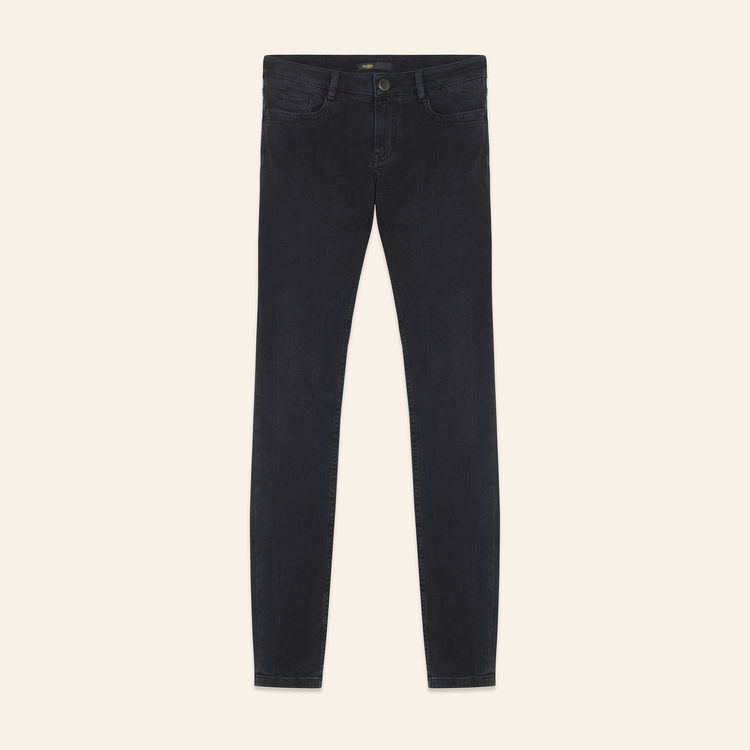 Skinny Jeans aus Baumwoll-Stretch : Jeans farbe Anthrazit