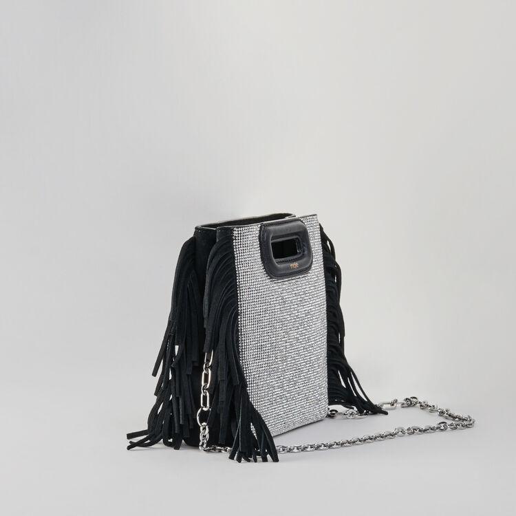 M Mini Tasche aus Velour mit Strass : M Mini farbe Schwarz