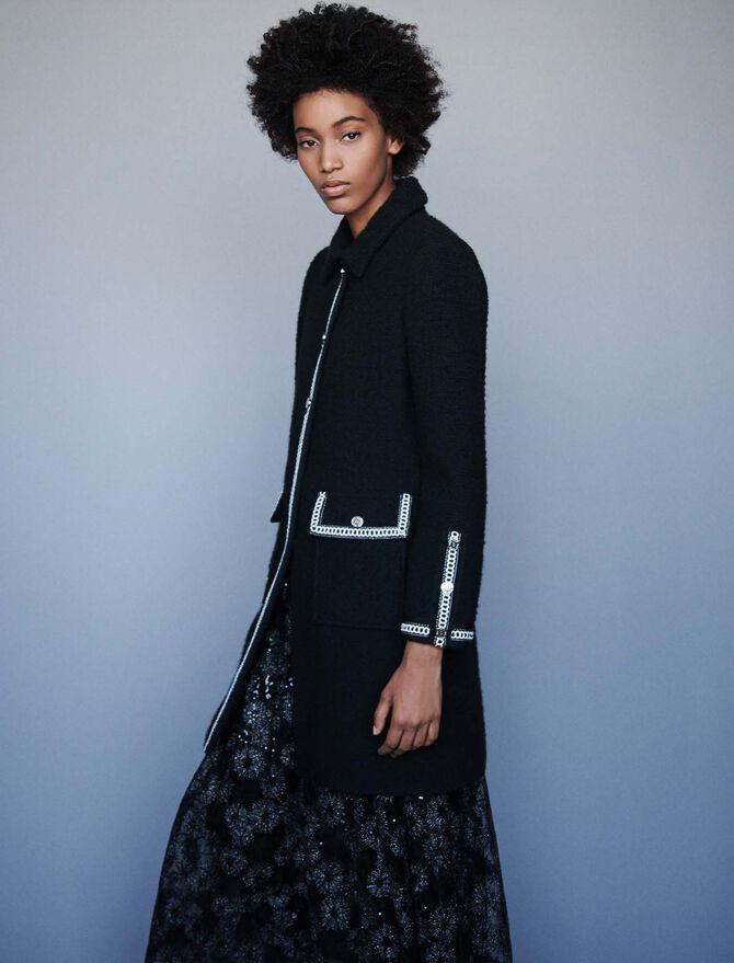 Mantel mit Tweed Effekt - Mäntel & Jacken - MAJE