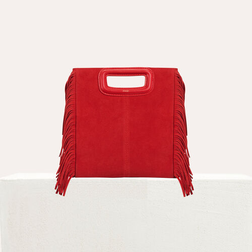 M-Tasche aus Wildleder : M Tasche farbe Rot