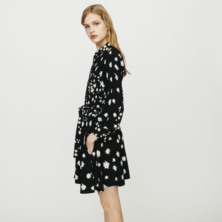 Kleid mit Margeriten-Mix-Print : Kleider farbe Print