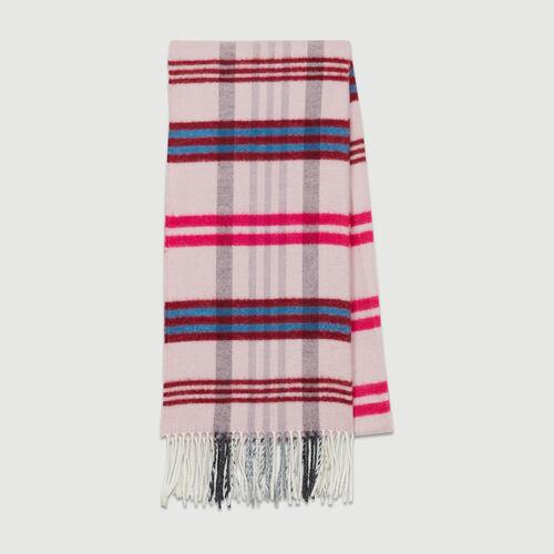 Strickschal mit Karos : Schals & Ponchos farbe Burgunderrot