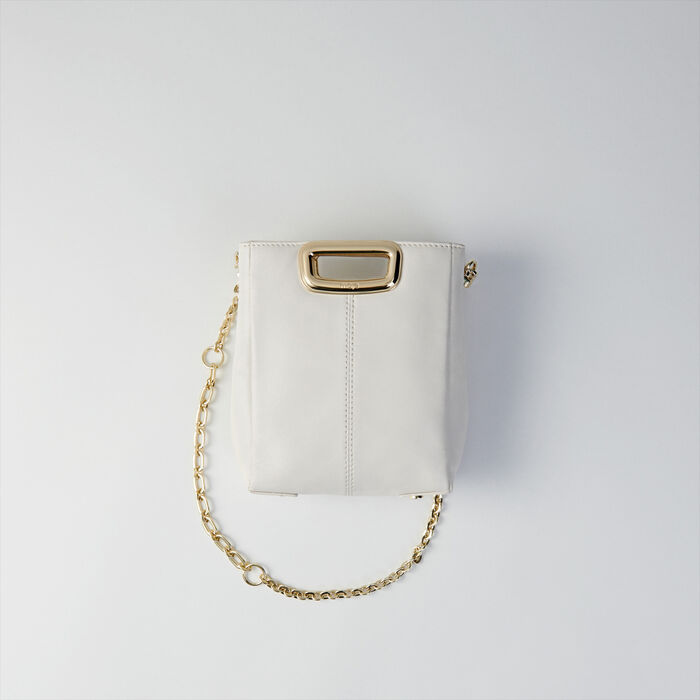 Suede and goldtone metal M Skin bag : M Skin farbe Schwarz