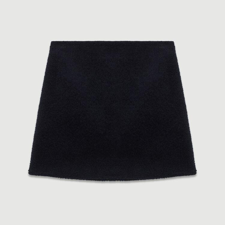 Kurzer Alpaka-Rock : Röcke & Shorts farbe Marineblau