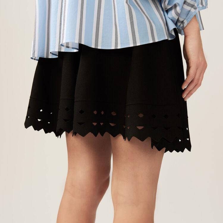 Rock aus Ajourstrick : Röcke & Shorts farbe Schwarz