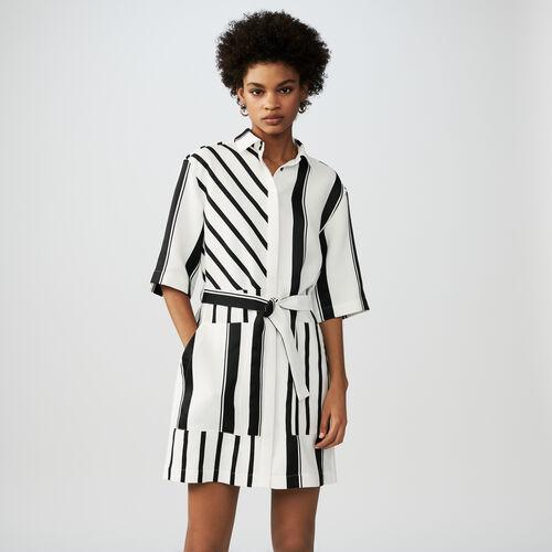 Bicolor shirt dress : Kleider farbe Gestreift