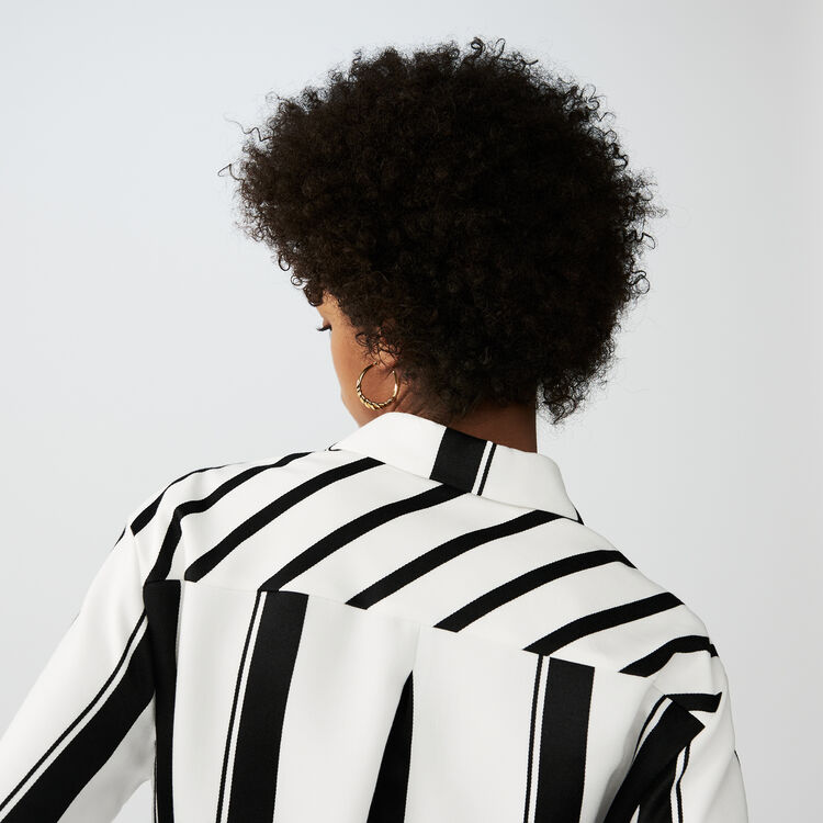 Gestreiftes Hemd-Kleid : Alles einsehen farbe Gestreift