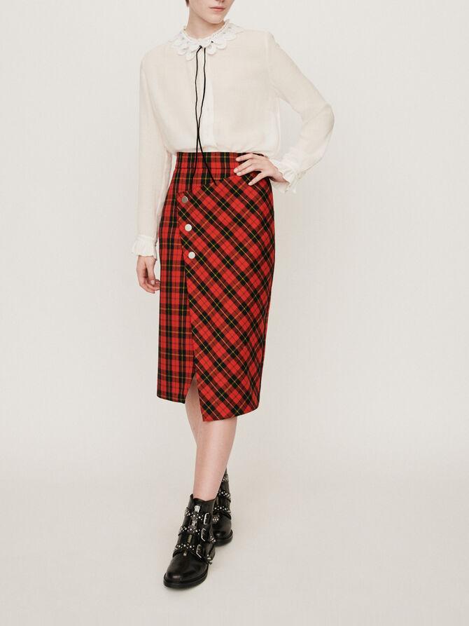 Asymmetrischer Karo Rock - Röcke und Shorts - MAJE