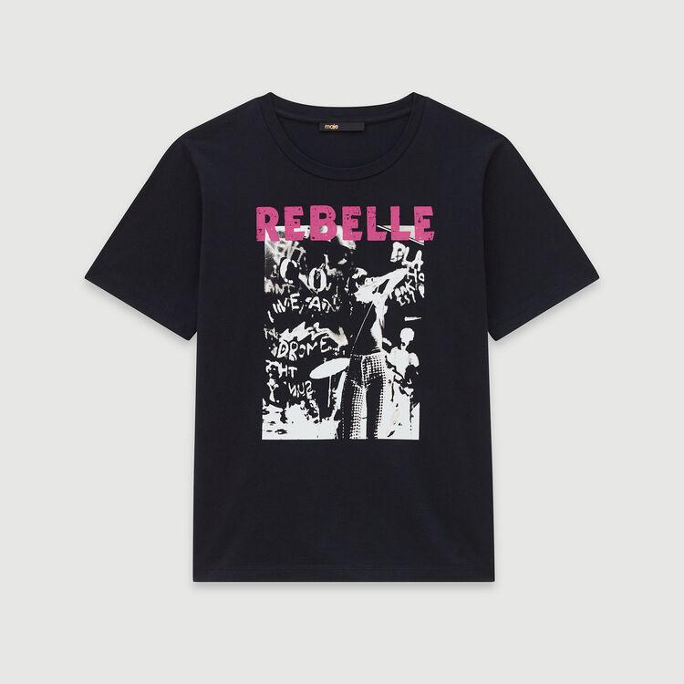 T-Shirt mit Serigraphie : T-Shirts farbe Schwarz