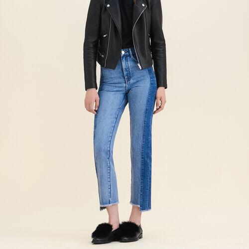 Gerade Jeans aus verwaschenem Denim : Pantalons & Jeans farbe Blau