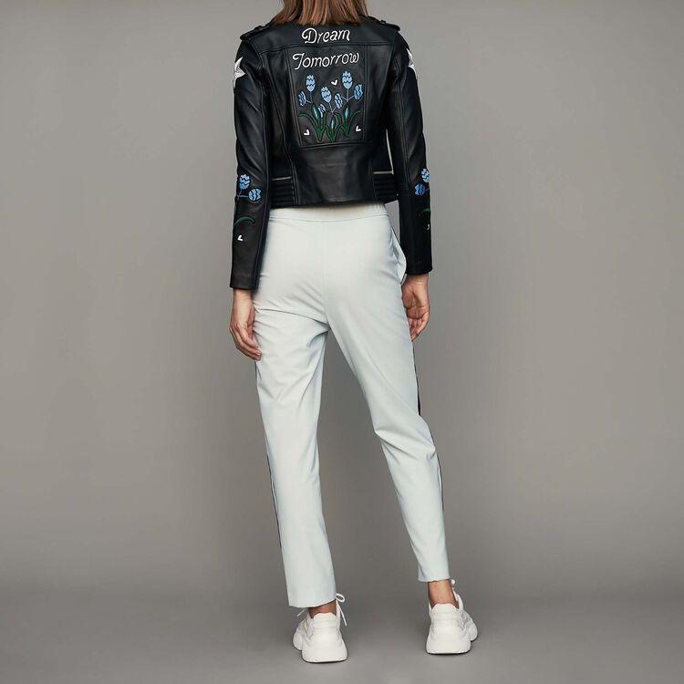 Elastische Hose : Hosen farbe Himmelblau