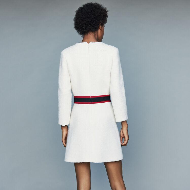 Kurzes Tweed-Kleid : Kleider farbe Ecru