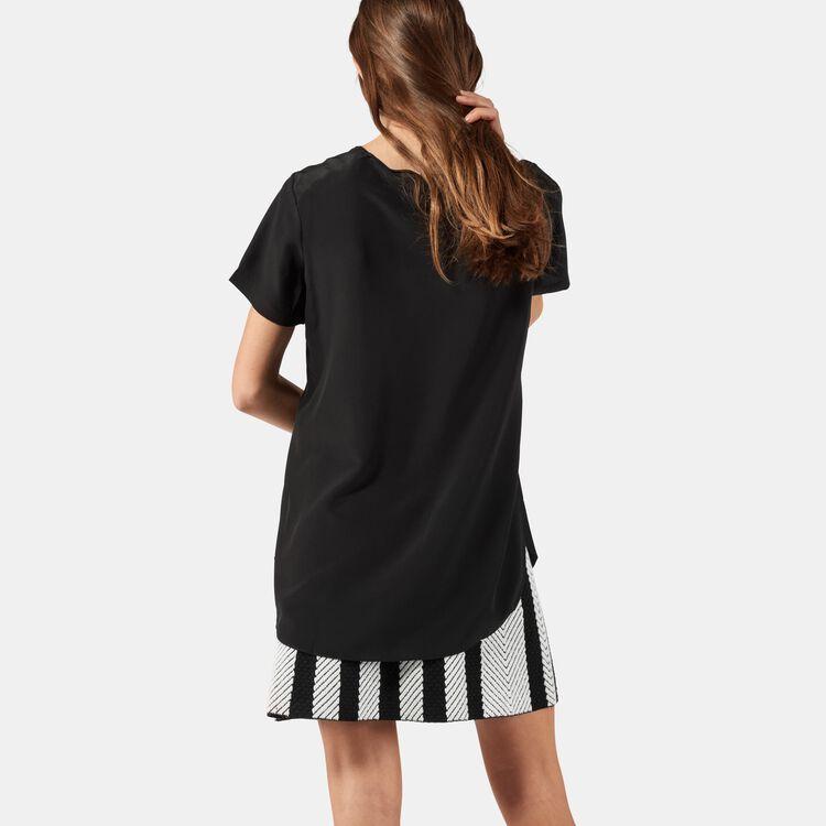 Seidentop mit aufwendigen Details : Tops farbe Schwarz
