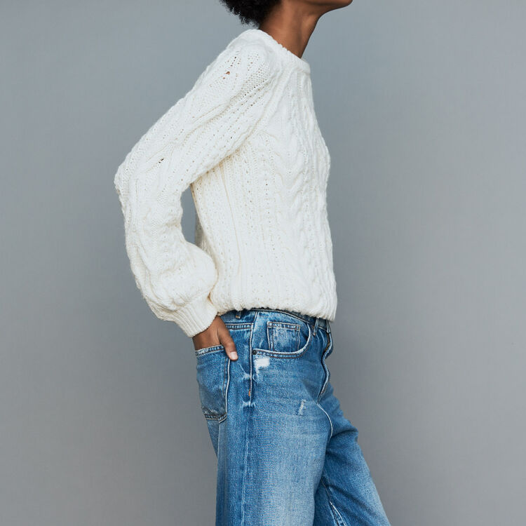 Pullover aus Flecht-Strick : Strickwaren farbe ECRU