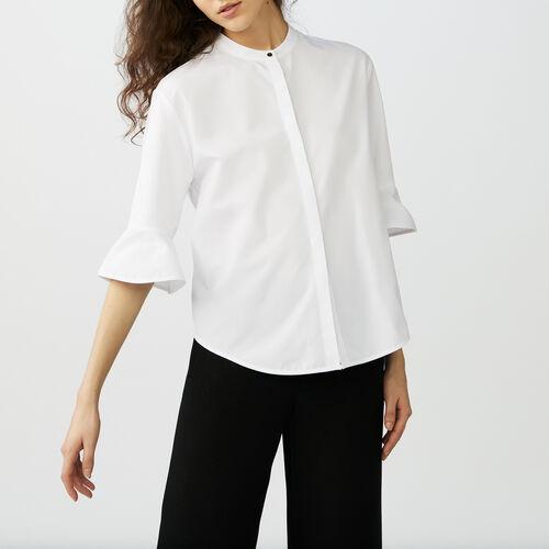 Poplin top : Hemden farbe Weiss