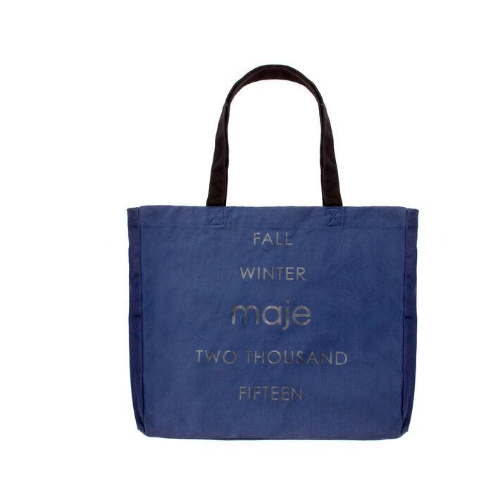 Baumwoll- Einkaufstasche : Gift with purchase farbe Blau