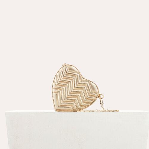 Gesteppte Umhängetasche aus Leder : Alles einsehen farbe Gold