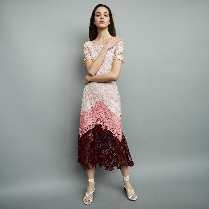 Langes mehrfarbiges Kleid : Kleider farbe Mehrfarbigen