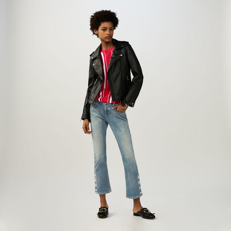 Bubble-Lammlederjacke mit Gürtel : Jacken farbe Schwarz