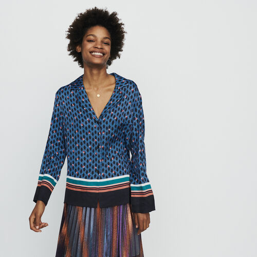 Hemd im Pyjama-Stil mit Monogramm Print : Hemden farbe IMPRIME