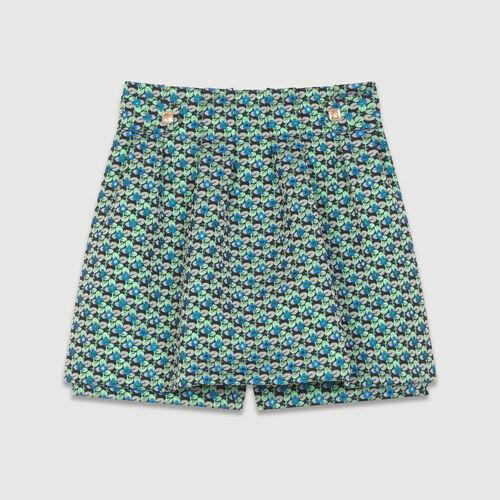 Oversize-Pullover aus Seide : Röcke & Shorts farbe Jacquard