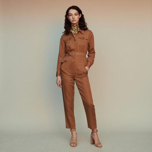 Jumpsuit mit Bluse : Hosen & Jeans farbe Terracotta