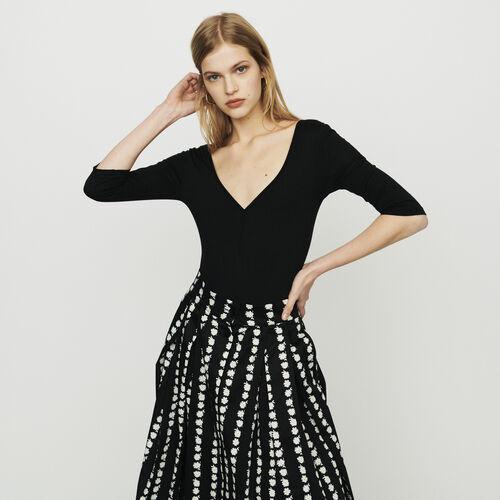 Body mit langen Armen : T-Shirts farbe Schwarz