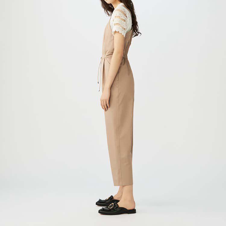 Latzhose aus Baumwolle : Hosen farbe Beige