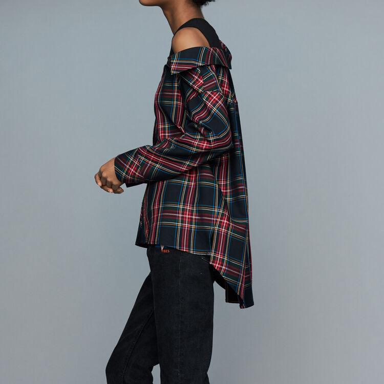 Destrukturiertes Karo-Hemd : Hemden farbe CARREAUX