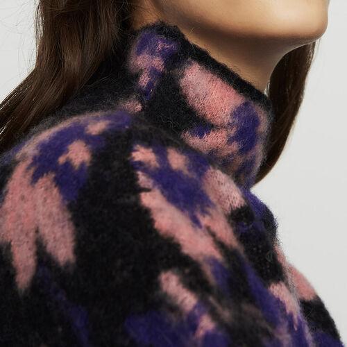 Bedruckter Pullover aus Mischwolle : Strickwaren farbe Mehrfarbigen