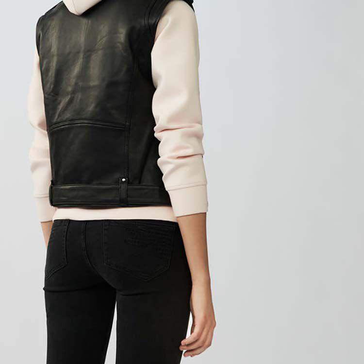 Ärmellose Lederjacke : Copy of -50% und mehr farbe Schwarz