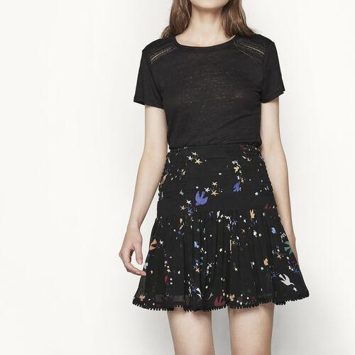 Bedruckter Rock aus Musselin : Röcke und Shorts farbe IMPRIME