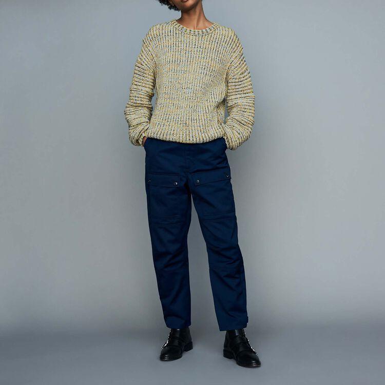 Oversize-Pullover aus edlem Strick : Strickwaren farbe Mehrfarbigen