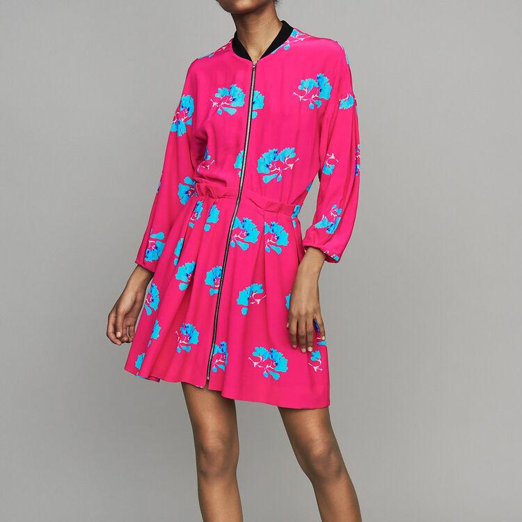 Kleid mit Trompe-l'œil-Effekt : Kleider farbe IMPRIME