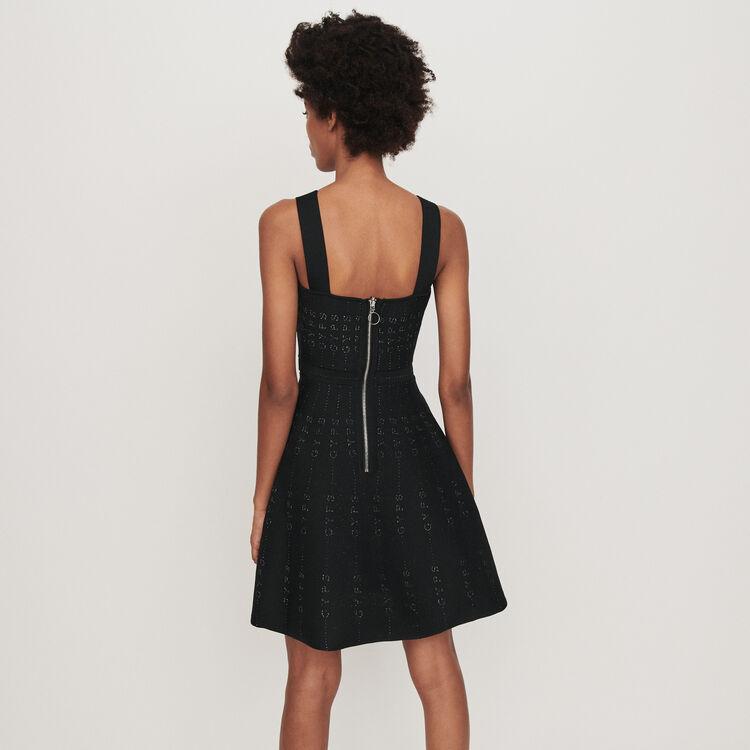 Strickkleid aus Lurex : Kleider farbe Schwarz