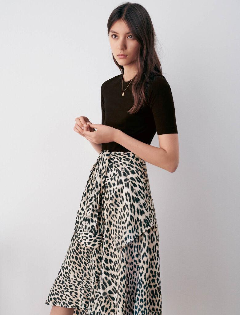 9RAPRILE Bedrucktes Kleid aus Jersey und Satin