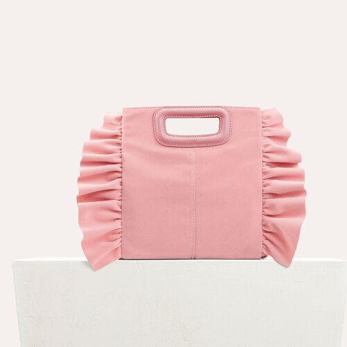 M Tasche mit Volants aus Velours : Looks de fête farbe BORDEAUX