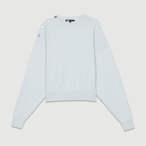 Pullover mit Schulterknöpfen : Strickwaren farbe BLEU CIEL