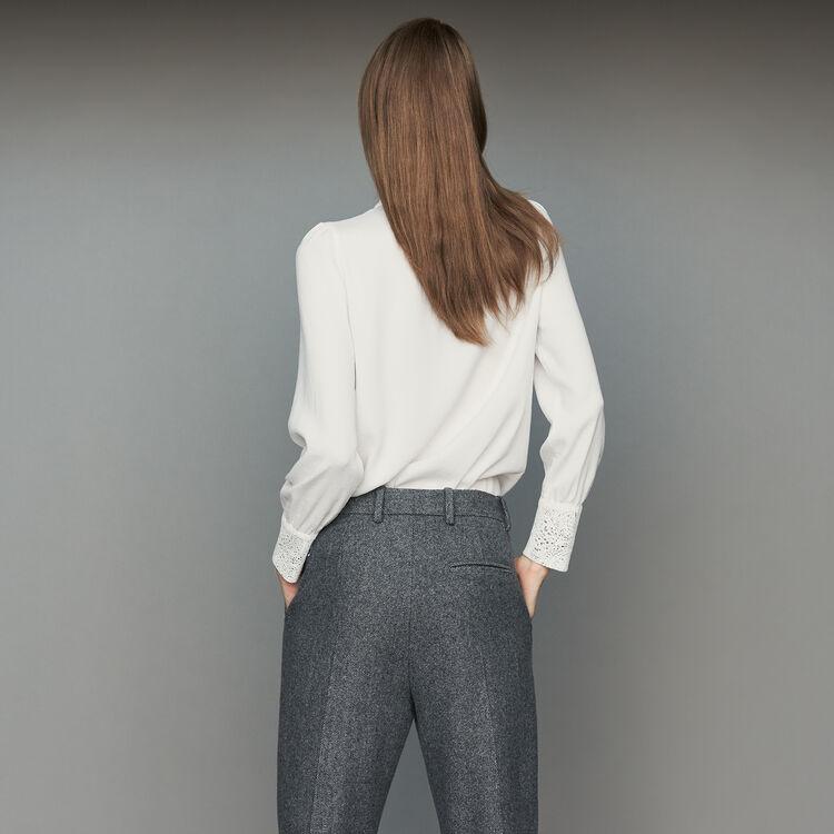 Lavallière-Hemd mit Spitze : Hemden farbe Weiss