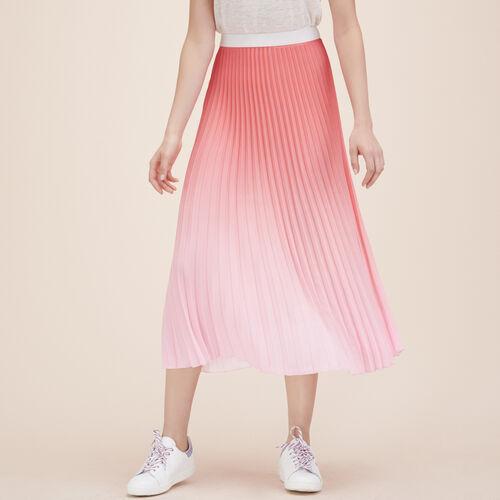 Plissee-Midirock in Batikoptik : Röcke und Shorts farbe Rosa