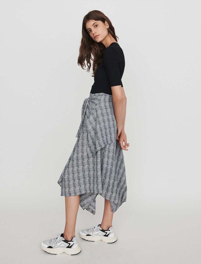 Trompe-l'Oeil Kleid mit Unterrock -  - MAJE