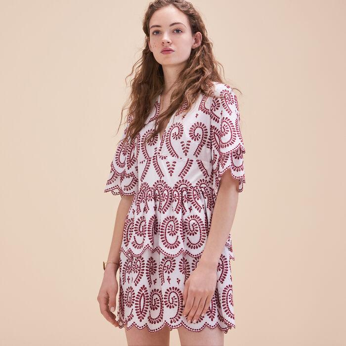 Besticktes Kleid mit Volants - Hello Summer - MAJE
