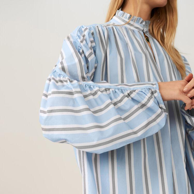 Oversize-Bluse mit gestreiften Volants : Tops farbe IMPRIME