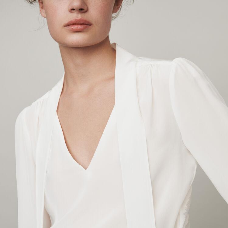 Lavalliere Seiden Top : Tops & Hemden farbe Schwarz