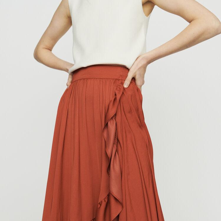 Langer Wickelrock : Röcke & Shorts farbe Terracotta